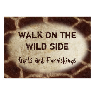 Wild Animal Prints Pack Of Chubby Business Cards
