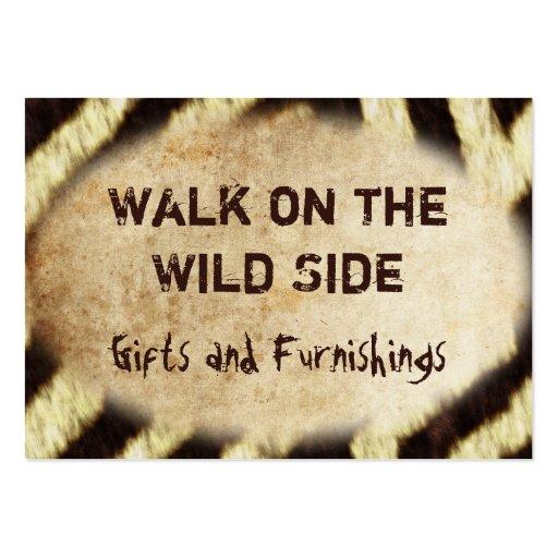 Wild Animal Prints Zebra Business Cards