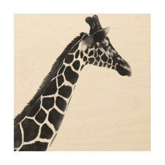Wild Animal Savanna Woodlands Giraffe Wildlife Wood Print