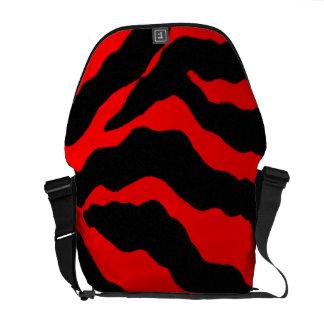 Wild Animal Tiger Print Rickshaw Messenger Bag