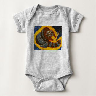 Wild Animals 1Z, by TRICKSTER REX Baby Bodysuit