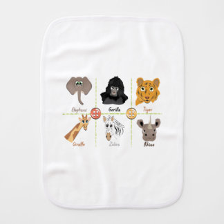 Wild Animals Burp Cloth