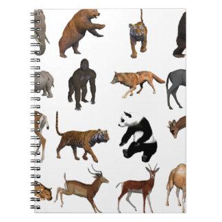 Wild animals notebook
