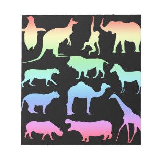 Wild Animals Notepad