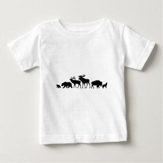Wild Animals of Yellowstone Baby T-Shirt