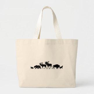 Wild Animals of Yellowstone Large Tote Bag