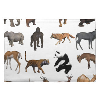Wild animals placemat