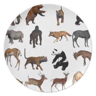 Wild animals plate