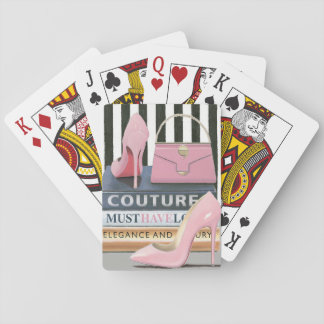 Wild Apple   Couture Stripes - Shoes & Bag Playing Cards