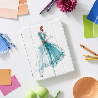 Wild Apple | Haute Couture Fashion Sketch iPad Cover