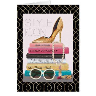 Wild Apple | Style Icon - Gold Stiletto Card