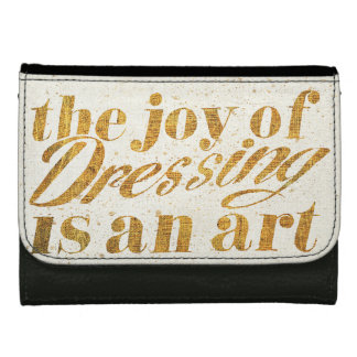 Wild Apple   The Joy Of Dressing - Girly Quote Wallet For Women