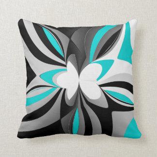 wild aqua abstract cushion