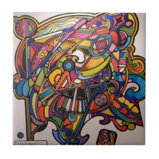 wild art deco vibrant graphic design ceramic tile