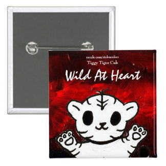 Wild At Heart Tiggy 15 Cm Square Badge