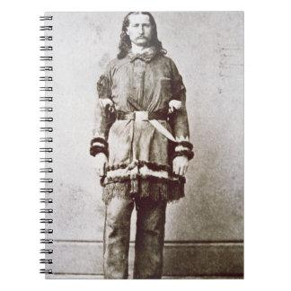 'Wild Bill' Hickok (1837-76) (b/w photo) Notebook