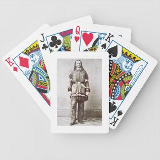'Wild Bill' Hickok (1837-76) (b/w photo) Poker Deck