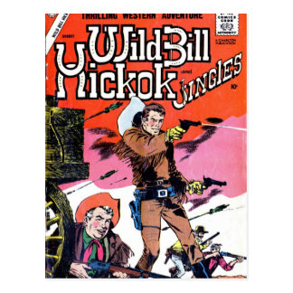 Wild Bill Hickok Comic Postcard