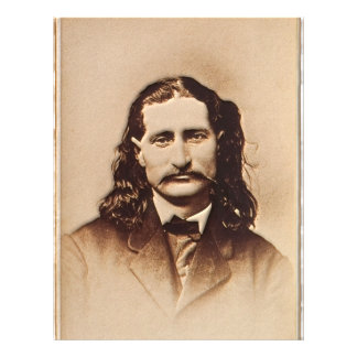 Wild Bill Hickok Painting Portrait 21.5 Cm X 28 Cm Flyer