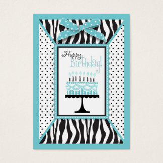 Wild Birthday Cake EB Gift Tag Business Card