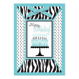 Wild Birthday Cake EB Gift Tag Business Card Templates