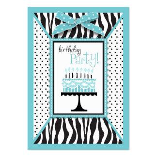 Wild Birthday Cake EB Reminder Card Business Card Template
