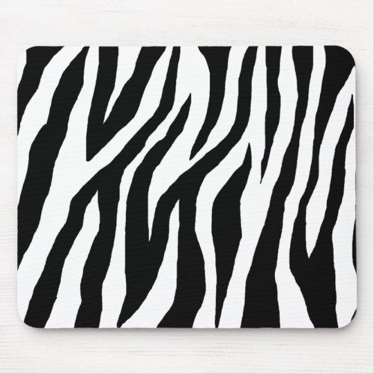 Wild Black & White Zebra Mouse Pad