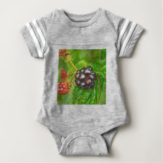 Wild Blackberries ripening in Summer Baby Bodysuit