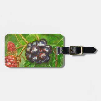 Wild Blackberries ripening in Summer Luggage Tag