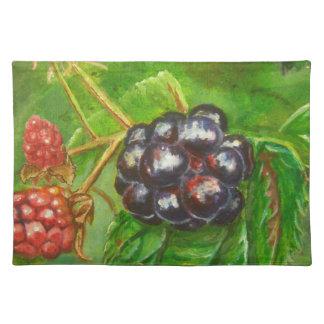 Wild Blackberries ripening in Summer Placemat