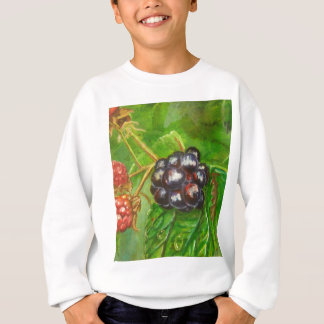 Wild Blackberries ripening in Summer Sweatshirt