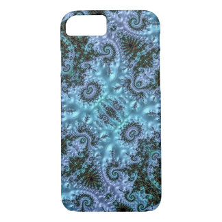 Wild Blue Fractal Filigree Pattern iPhone 8/7 Case