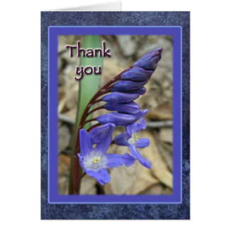 Wild Blue Hyacinth Thank You Card