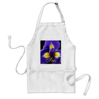 Wild Blue Iris Adult Apron