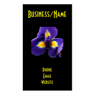 Wild Blue Iris Double-Sided Standard Business Cards (Pack Of 100)