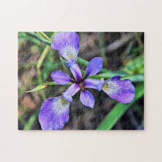 Wild Blue Iris Large Photo Puzzle