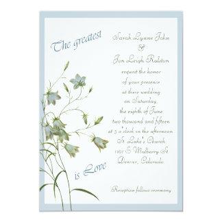 Wild Bluebell Greatest Love Wedding Card
