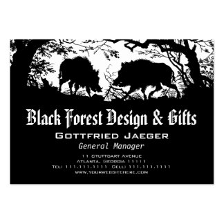 Wild Boar and Deer: German Silhouette / Paper Cut Pack Of Chubby Business Cards