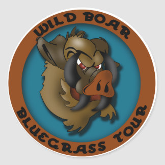 Wild Boar Bluegrass Tour Classic Round Sticker
