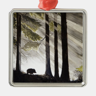 Wild Boar Metal Ornament