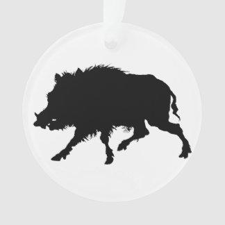 Wild Boar or Wild Pig Elegant Silhouette Ornament
