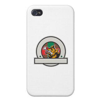 Wild Boar Razorback Bone In Mouth Circle Retro iPhone 4 Covers