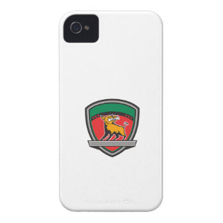 Wild Boar Razorback Bone In Mouth Crest Retro iPhone 4 Case-Mate Case