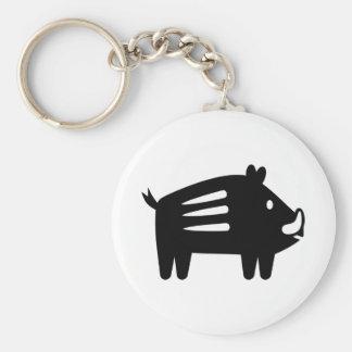 Wild boar symbol key ring