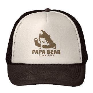 Wild Brown Papa Bear Year of Fatherhood Dad Cap