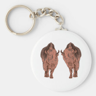 Wild Buffalo Key Ring