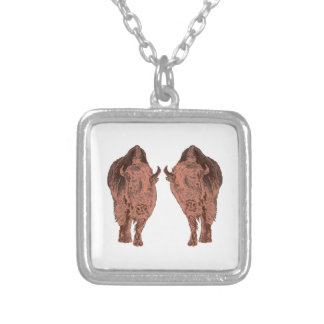 Wild Buffalo Silver Plated Necklace
