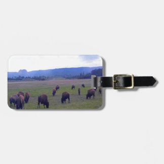 Wild Buffaloes Luggage Tag
