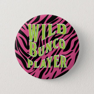 Wild Bunco Player Graphic Design 6 Cm Round Badge