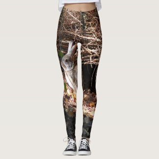 Wild bunny rabbit design leggings